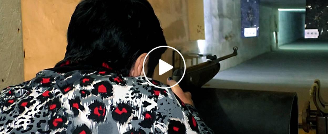 Стріляли з пневматичної гвинтівки – у Борисполі відбулися змагання з кульової стрільби. Відео