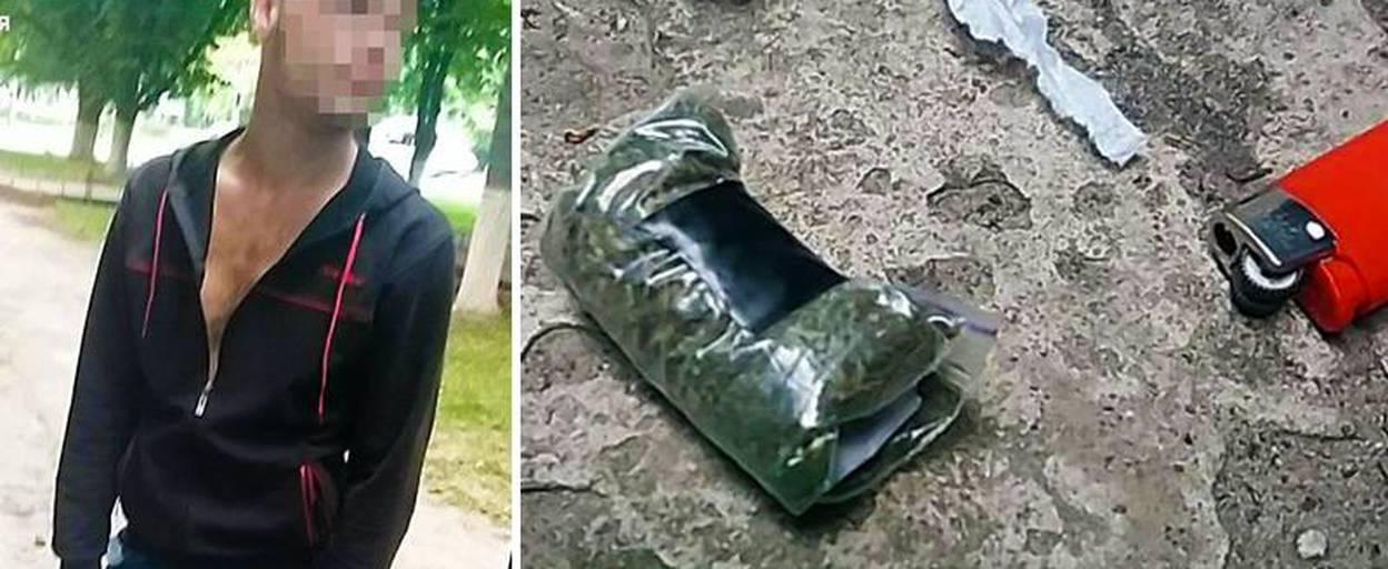 Патрульні Борисполя затримали чоловіка з наркотиками та шприцами. Фото