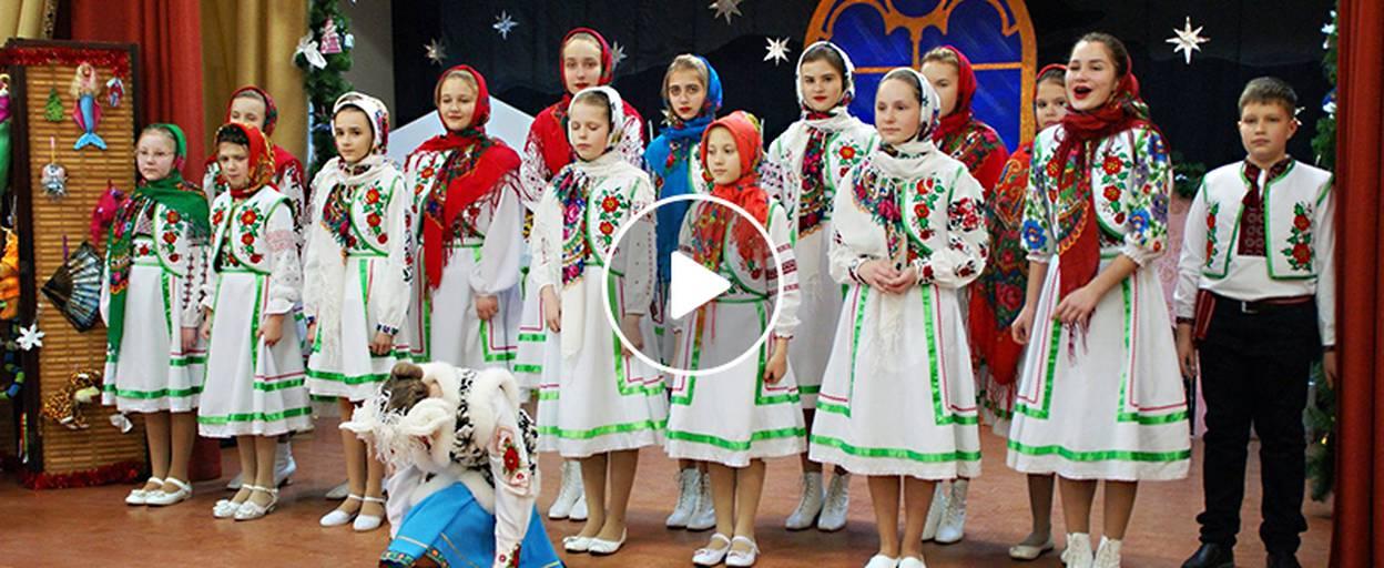 Колядки для учасників АТО: дітлахи Борисполя влаштували святкове дійство для захисників України. Відео