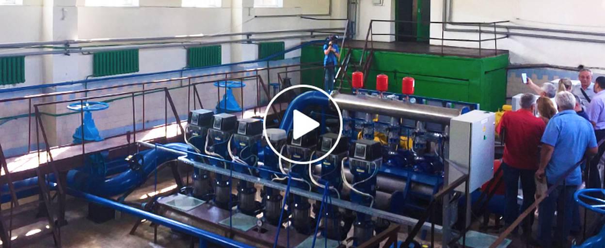 Потужність подачі води у Борисполі збільшилася – встановили нову каскадну станцію. Відео