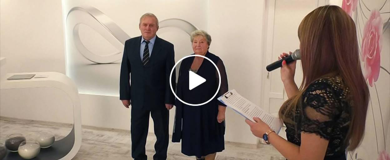 У оновленому залі Бориспільського ДРАЦС подружжя відсвяткувало «золоте весілля». Відео