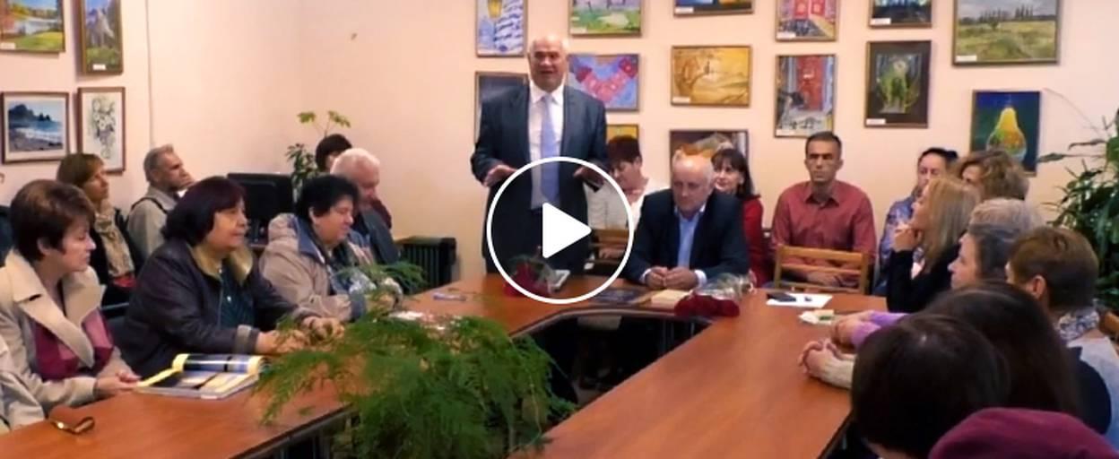 У Борисполі відбувся творчий вечір поета і письменника Володимира Литвина. Відео