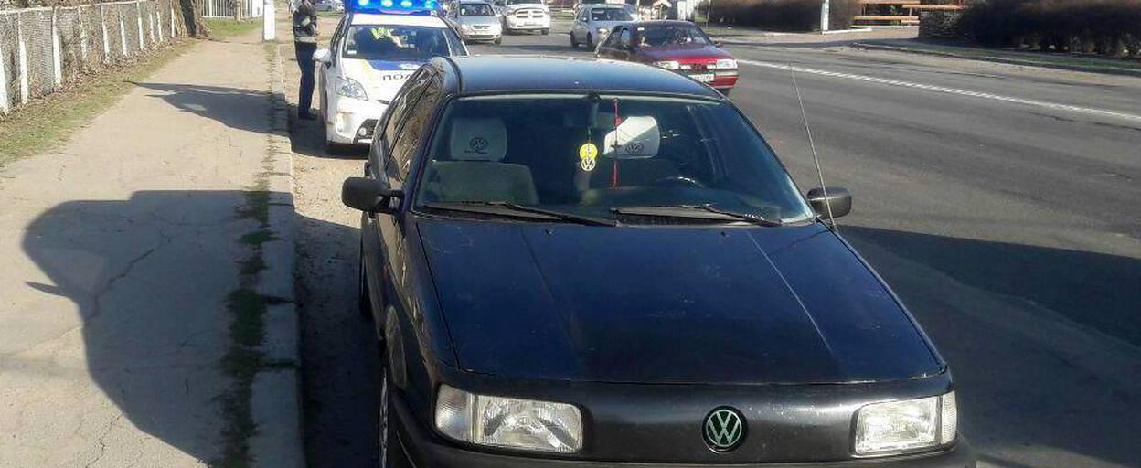 Патрульні Борисполя затримали нетверезого водія без права керування. Фото