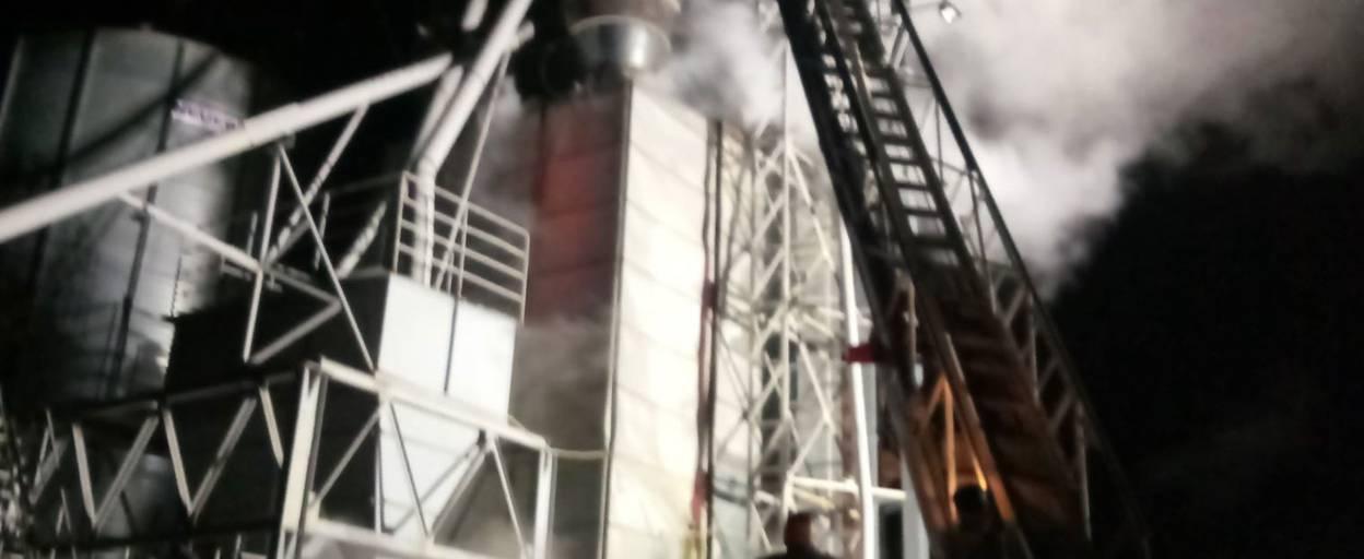 Пожежа на Бориспільщині: вогонь знищив 15 тон насіння соняшника. Фото