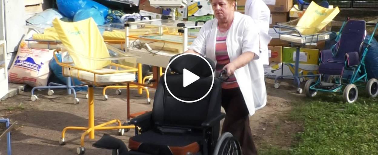 Гуманітарну допомогу більш ніж на 65 тисяч гривень передали бориспільській лікарні. Відео