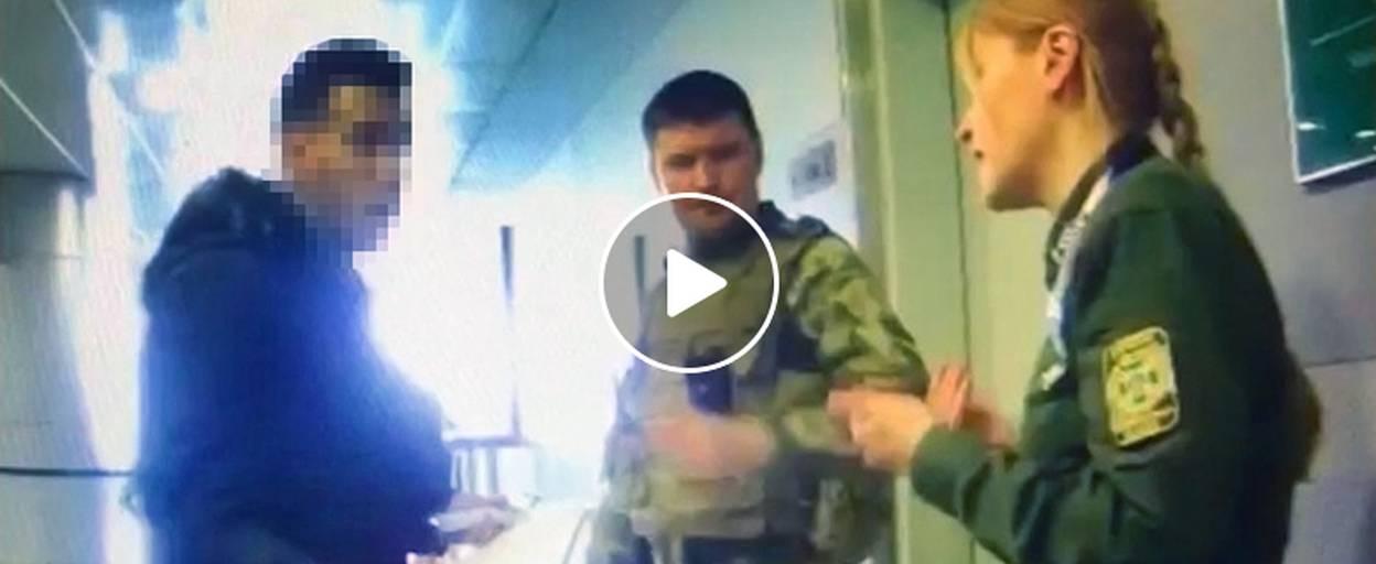 Зухвалий марокканець в аеропорту «Бориспіль» напав на прикордонника. Відео