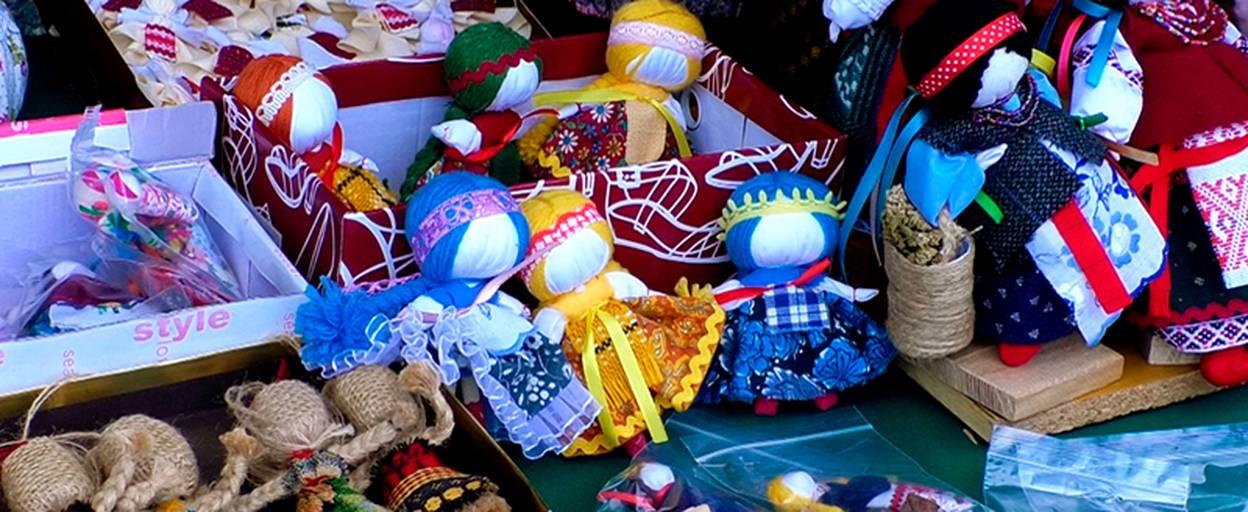 Майстри Борисполя представили свої вироби до Дня Державного Прапора та Дня Незалежності. Відео