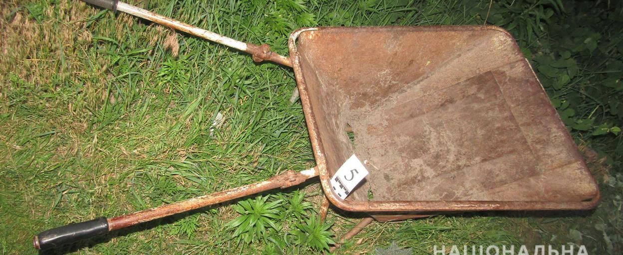 У Борисполі чоловік напідпитку зарубав сокирою товариша та закопав тіло на городі. Фото