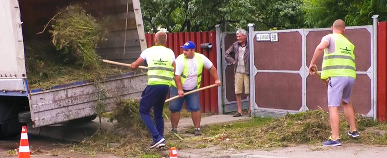 Рейди за чисте повітря: активісти Борисполя забирають у містян скошені бур'яни. Відео