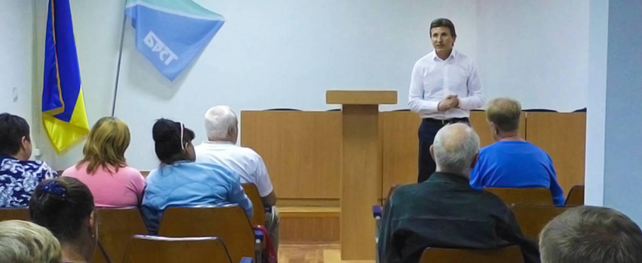 Кандидат в нардепи Валерій Ксьонзенко зустрівся з ветеранами Борисполя. Відео
