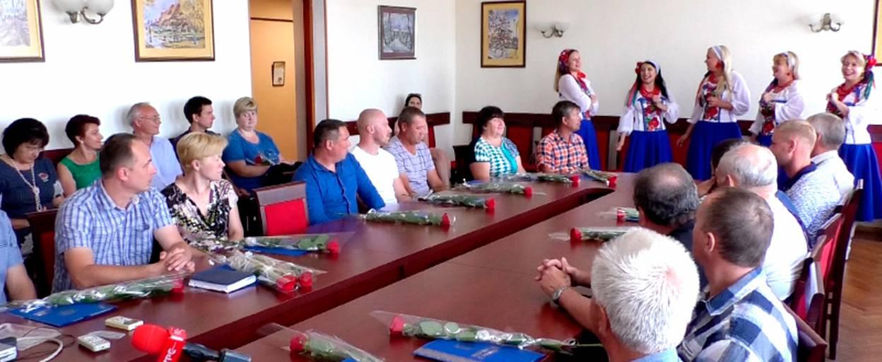 Будівельників Борисполя привітали з нагоди професійного свята. Відео