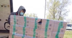 Бориспіль отримав 450 продуктових наборів для малозабезпечених літніх людей