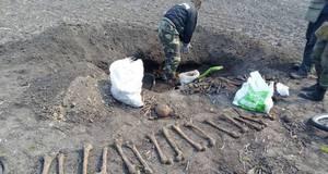 Поховання вісьмох бійців знайшли пошуковці на Бориспільщині