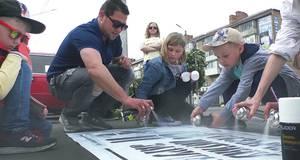 Активісти та патрульні Борисполя взяли участь у акції «Відповідальний пішохід». Відео