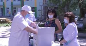 Kyiv-City Rotary Club передав бориспільській лікарні маски й антисептики