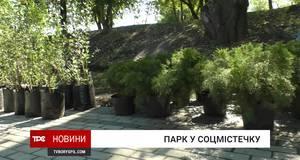 В парку Соцмістечка висадили кущів та дерева на понад 65 тисяч гривень