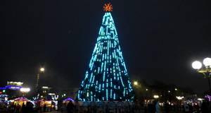 Засяяла бориспільська новорічна ялинка
