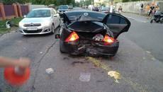 П'яна ДТП у Борисполі: водій Hyundai протаранив автомобіль з дітьми. Фото