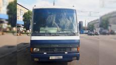 У Борисполі оштрафували водія автобуса за проїзд на червоний сигнал світлофора. Фото