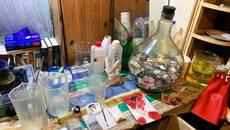 Ліквідовано лабораторію з виготовлення амфетаміну – поліція вилучила наркотики та зброю. Фото