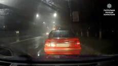 Протягом однієї ночі патрульні Борисполя затримали трьох нетверезих водіїв. Фото