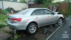 Нетверезий водій пошкодив паркан приватного будинку у Борисполі. Фото