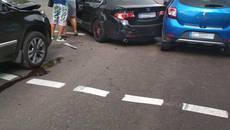 На перехресті у Борисполі сталася ДТП – зіткнулося чотири авто. Фото