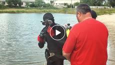 У Княжицьке озеро занурилися аквалангісти – водойми Борисполя перевіряють на безпеку