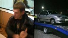 Агресивного водія напідпитку патрульні Борисполя в кайданках доставили до відділу поліції. Фото