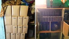 Понад 700 літрів фальсифікованого алкоголю вилучили з підпільного цеху у Борисполі. Фото