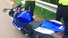 Викрадений два роки тому в Італії мотоцикл виявили на Бориспільському шосе. Фото