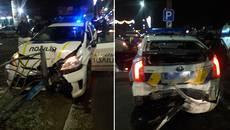 У Борисполі нетверезий водій на швидкості в'їхав у поліцейський Prius. Фото