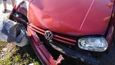 Зніс електроопору та зник з місця ДТП: патрульні Борисполя розшукують водія Volkswagen. Фото