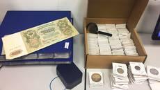Колекцію старовинних монет XVIII-XX століть намагались незаконно ввезти через «Бориспіль». Фото