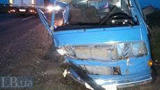 На Бориспільській кільцевій зіткнулося три автомобілі, є загиблий. Фото