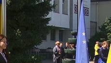 День Європи: у Борисполі замайоріли прапори України та Європейського Союзу