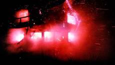 Пожежа на Бориспільщині повністю знищила двоповерхову дерев'яну лазню. Фото