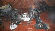 Пожежа на Бориспільщині: у підземному гаражі приватного будинку вщент згорів квадроцикл. Фото