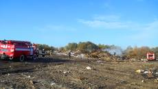 Поблизу аеропорту «Бориспіль» горіло стихійне сміттєзвалище. Фото