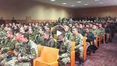 59 військових повернулися до Борисполя після року на передовій. Відео