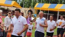 Спортивні сім'ї позмагалися у фестивалі «Мама, тато і я – спортивна сім'я»