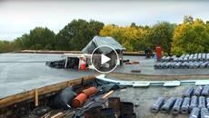 Спортшкола Борисполя отримала новенький дах з утепленням. Відео