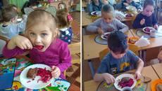 Дітлахи Борисполя вперше пообідали стравами від Євгена Клопотенка. Фото