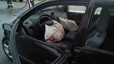 На Кільцевій трапилася серйозна ДТП – зіткнулися два авто, водія госпіталізувала швидка. Фото