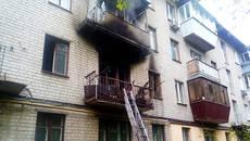 У Борисполі горіла квартира житлового будинку – вогонь вщент знищив кімнату. Фото