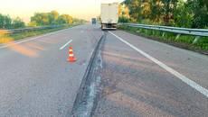 Вночі на автодорозі Київ-Харків вантажівка на смерть збила жінку-пішохода. Фото